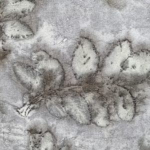 Eco printed vintage French linen