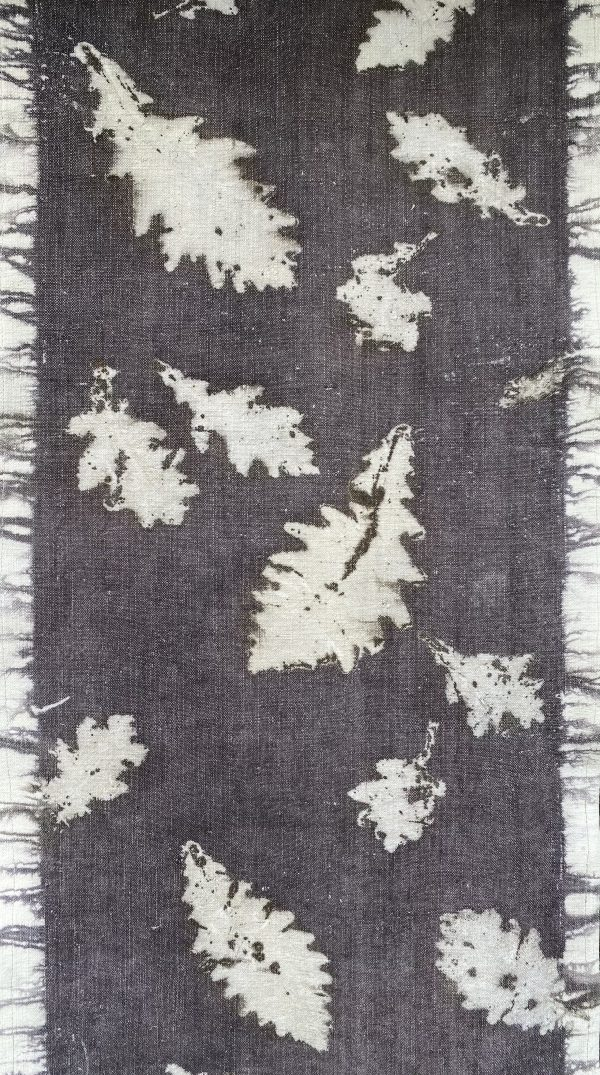 Eco printed French linen